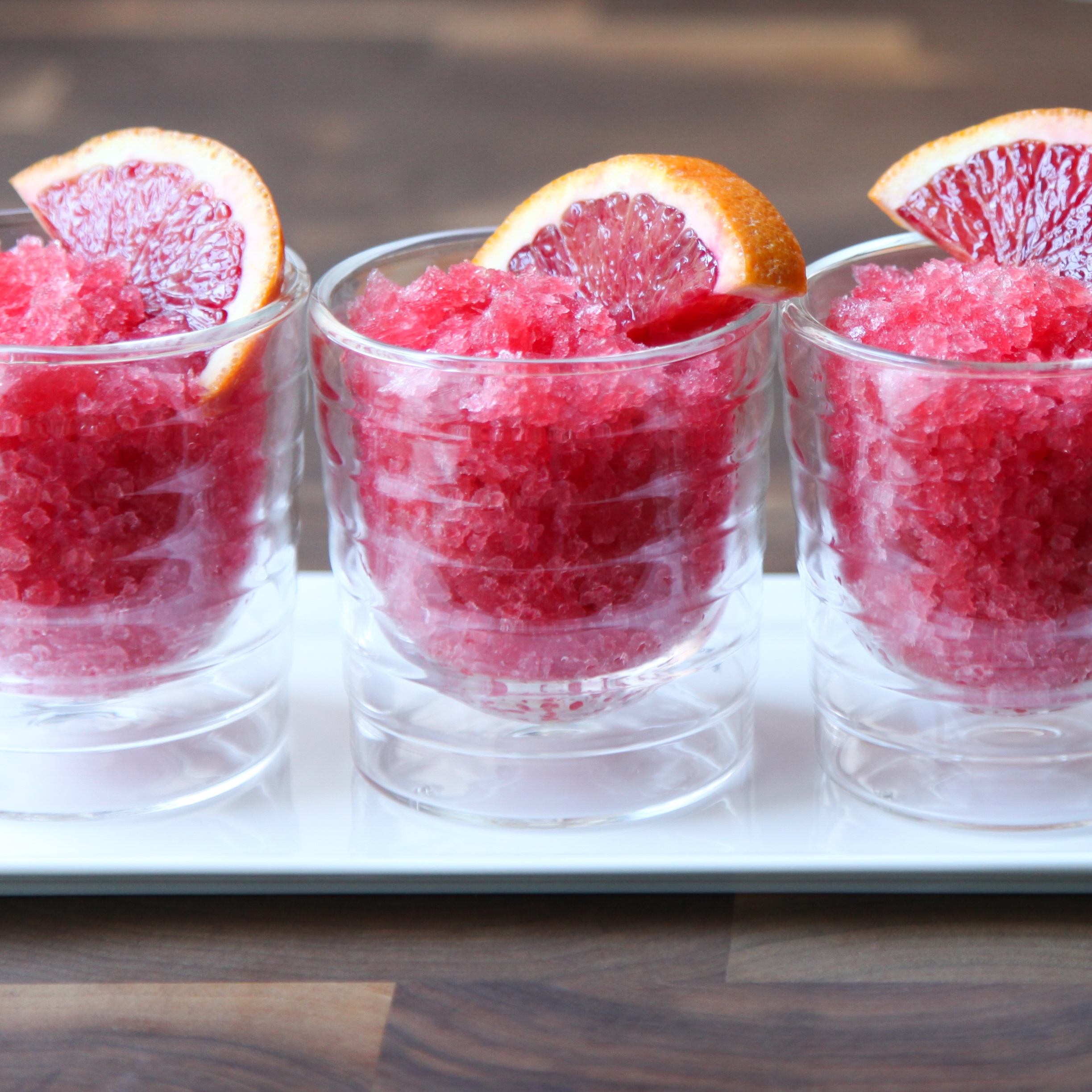 Blood Orange Aperol Granita | amodestfeast.com | A Modest Feast