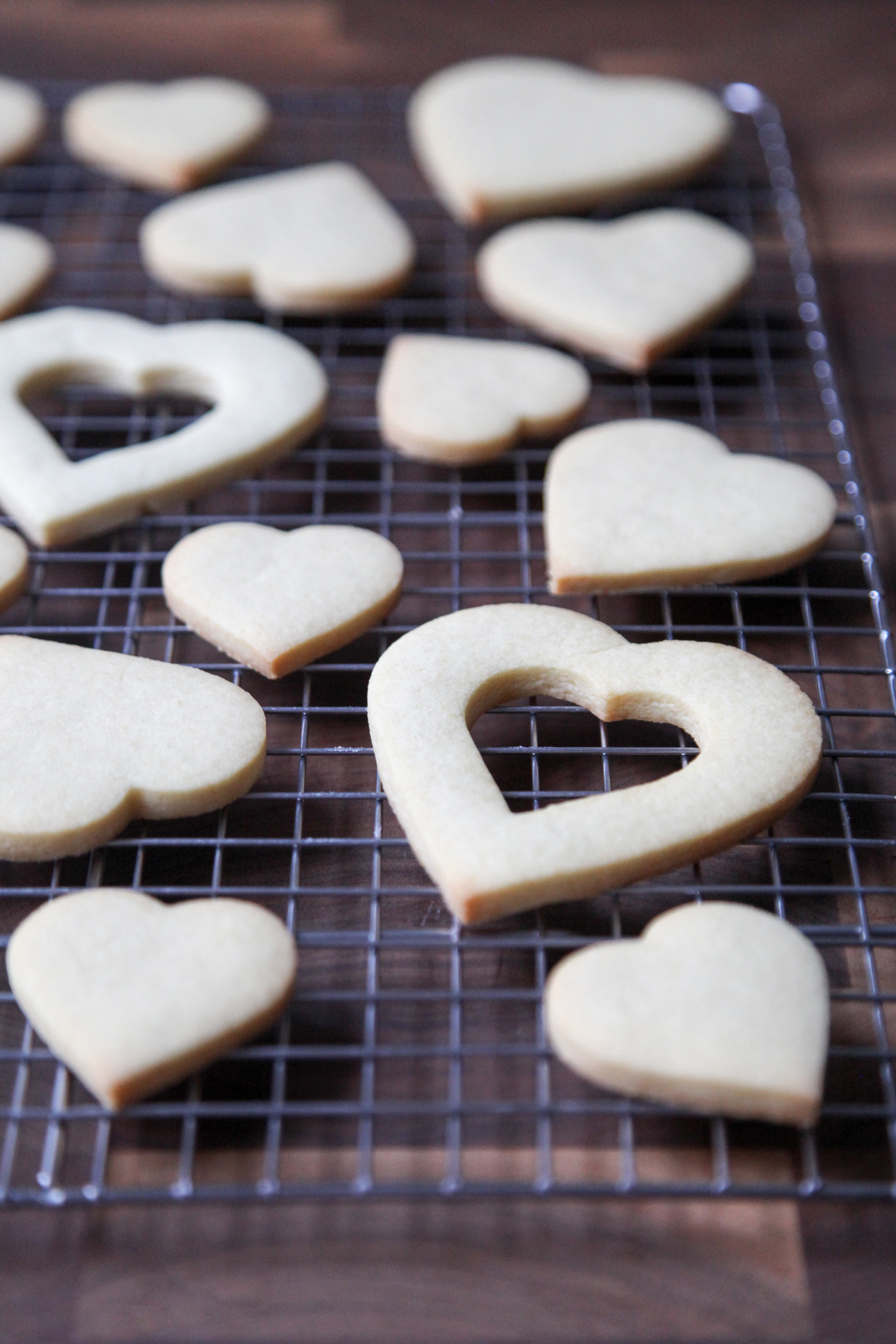 Baked Valentine's Day sugar cookies
