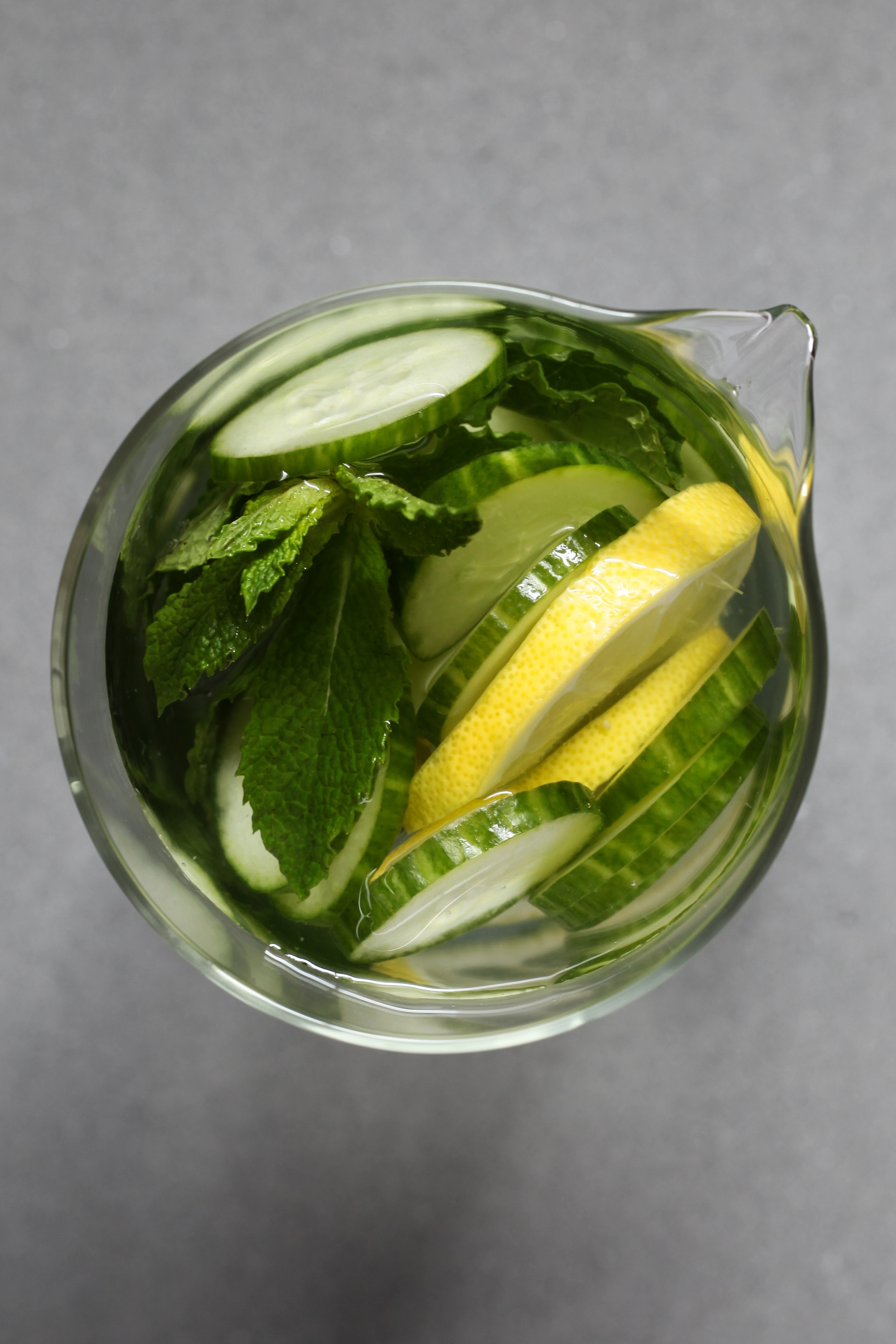 Cucumber-Mint Spa Water | amodestfeast.com | @amodestfeast