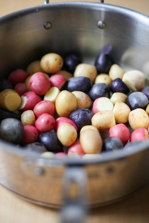 Mini rainbow potatoes