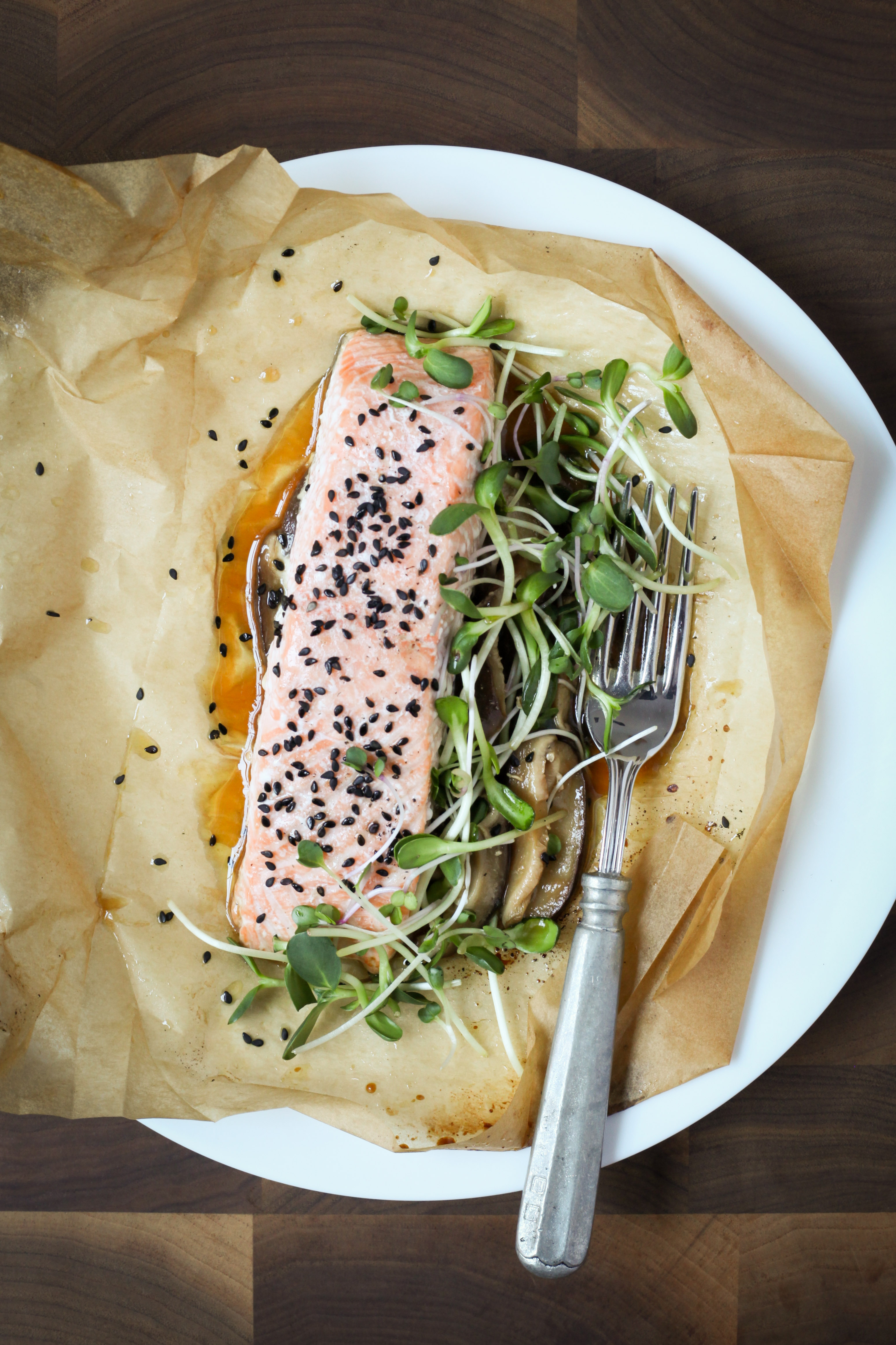 One-Pan Sesame Salmon With Shiitake Mushrooms | amodestfeast.com | A Modest Feast