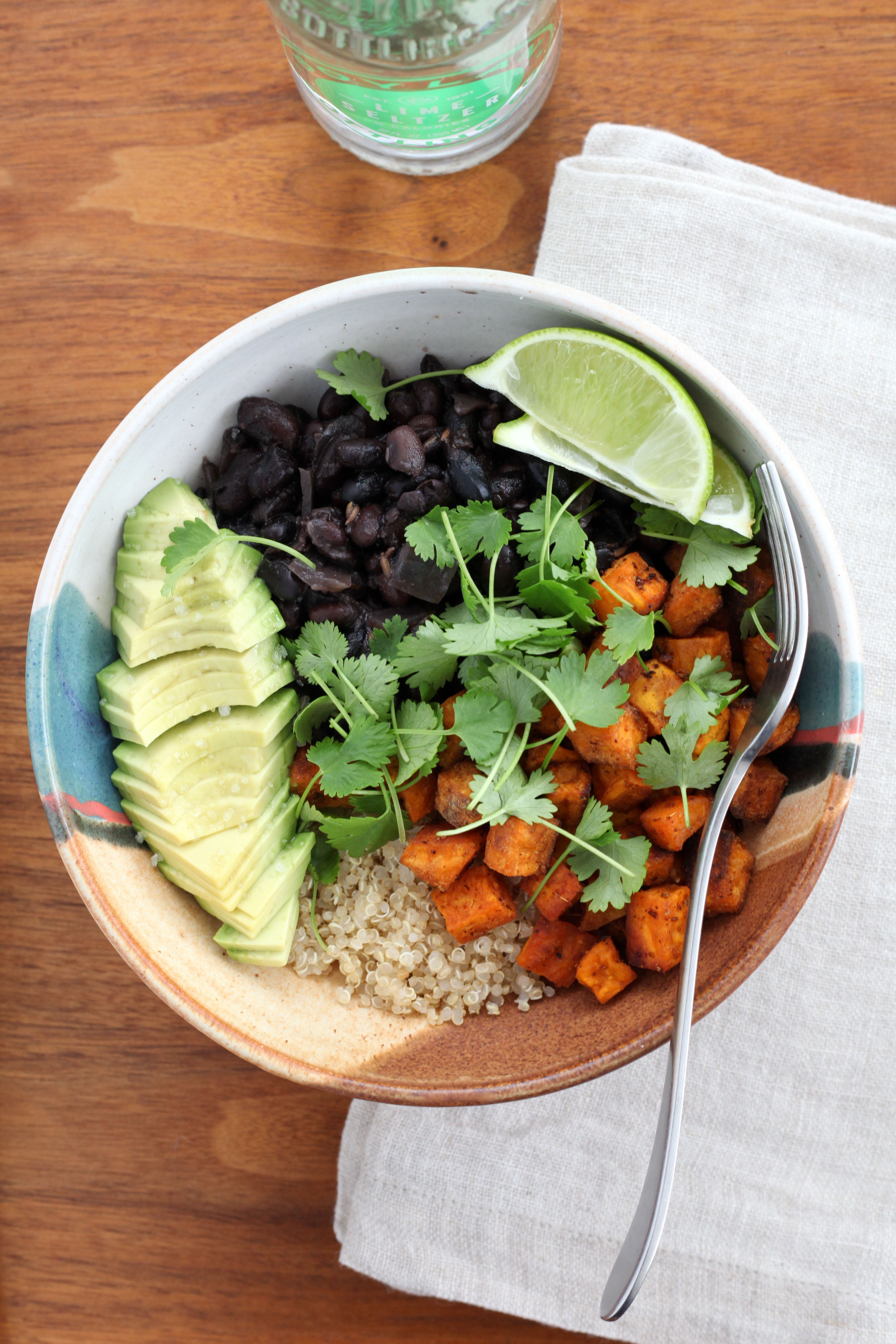Slow-Cooker Black Beans With Quinoa and Sweet Potatoes (gluten-free, vegan) | amodestfeast.com | A Modest Feast