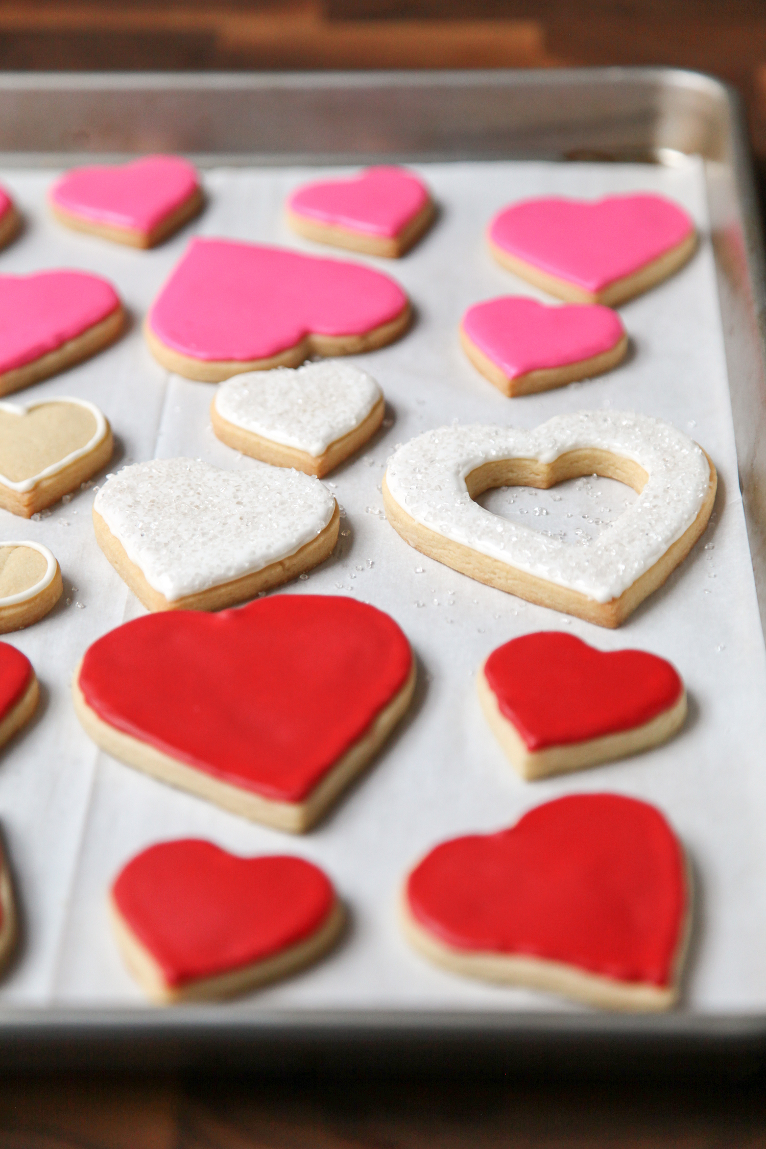 Iced Heart Sugar Cookies | amodestfeast.com | A Modest Feast