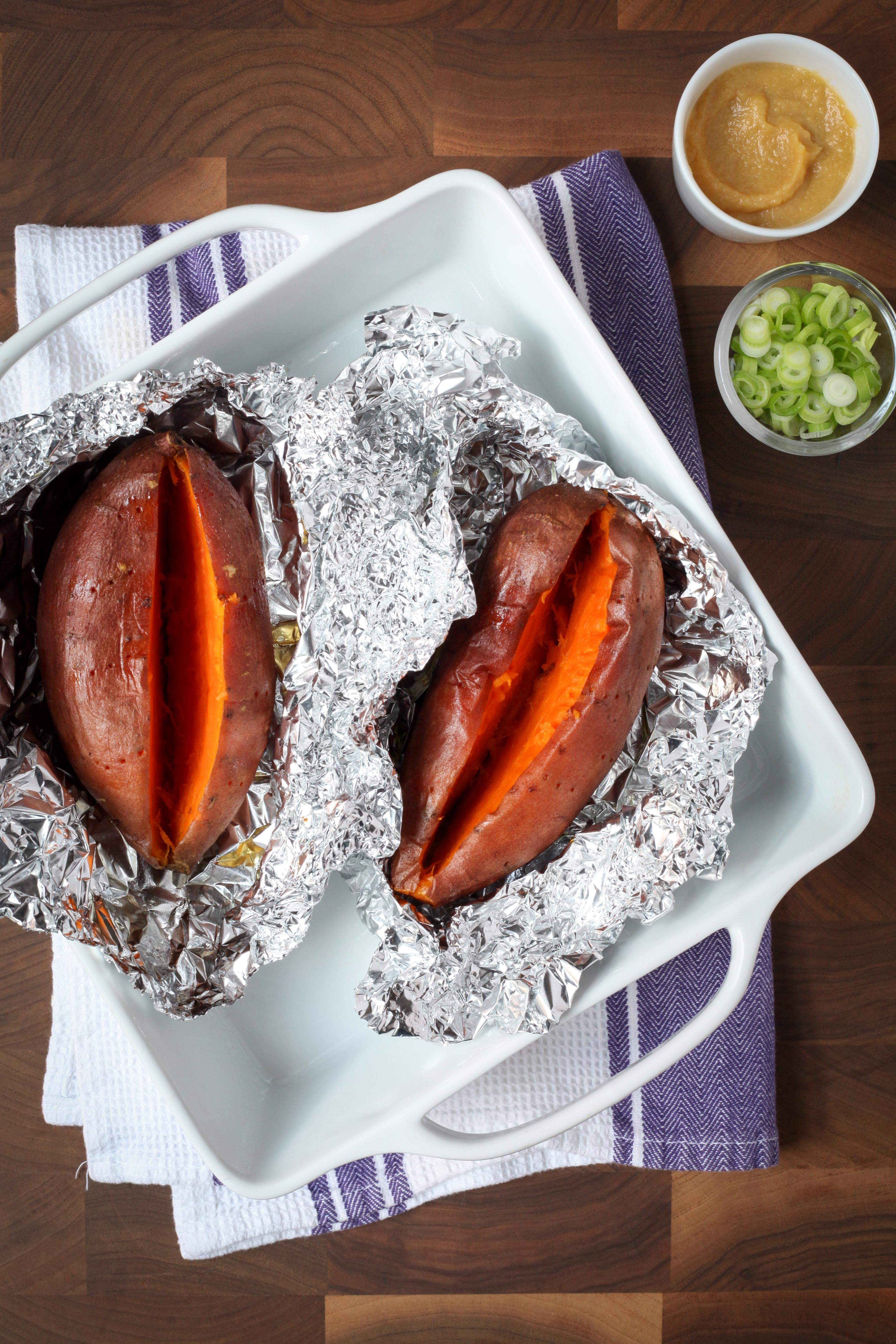 Baked-Sweet-Potatoes-With-Miso-Butter-and-Scallions