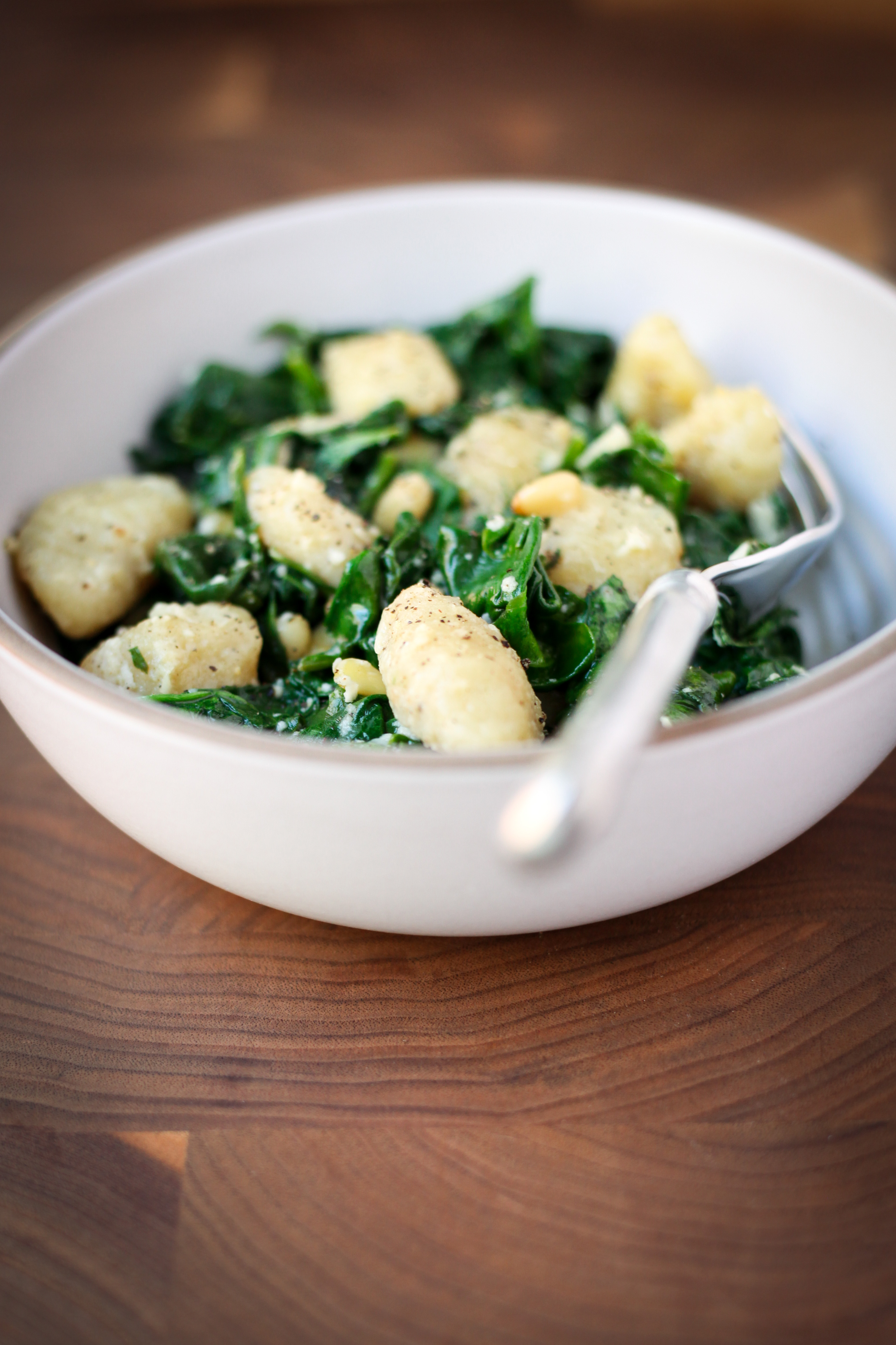 Brown Butter Gnocchi With Spinach | amodestfeast.com | @amodestfeast