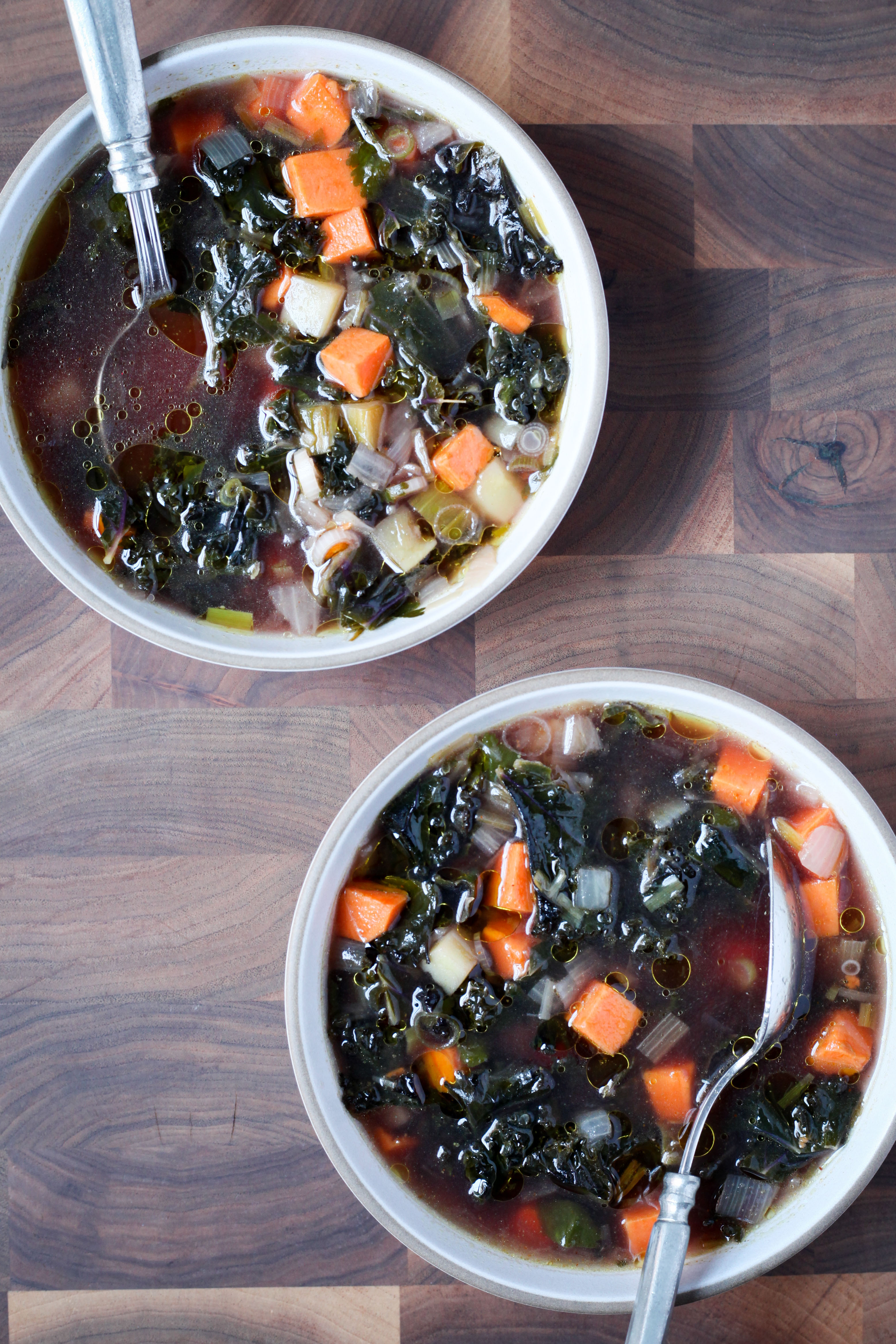 Kale and Sweet Potato Soup With Cumin and Lemon | amodestfeast.com | @amodestfeast