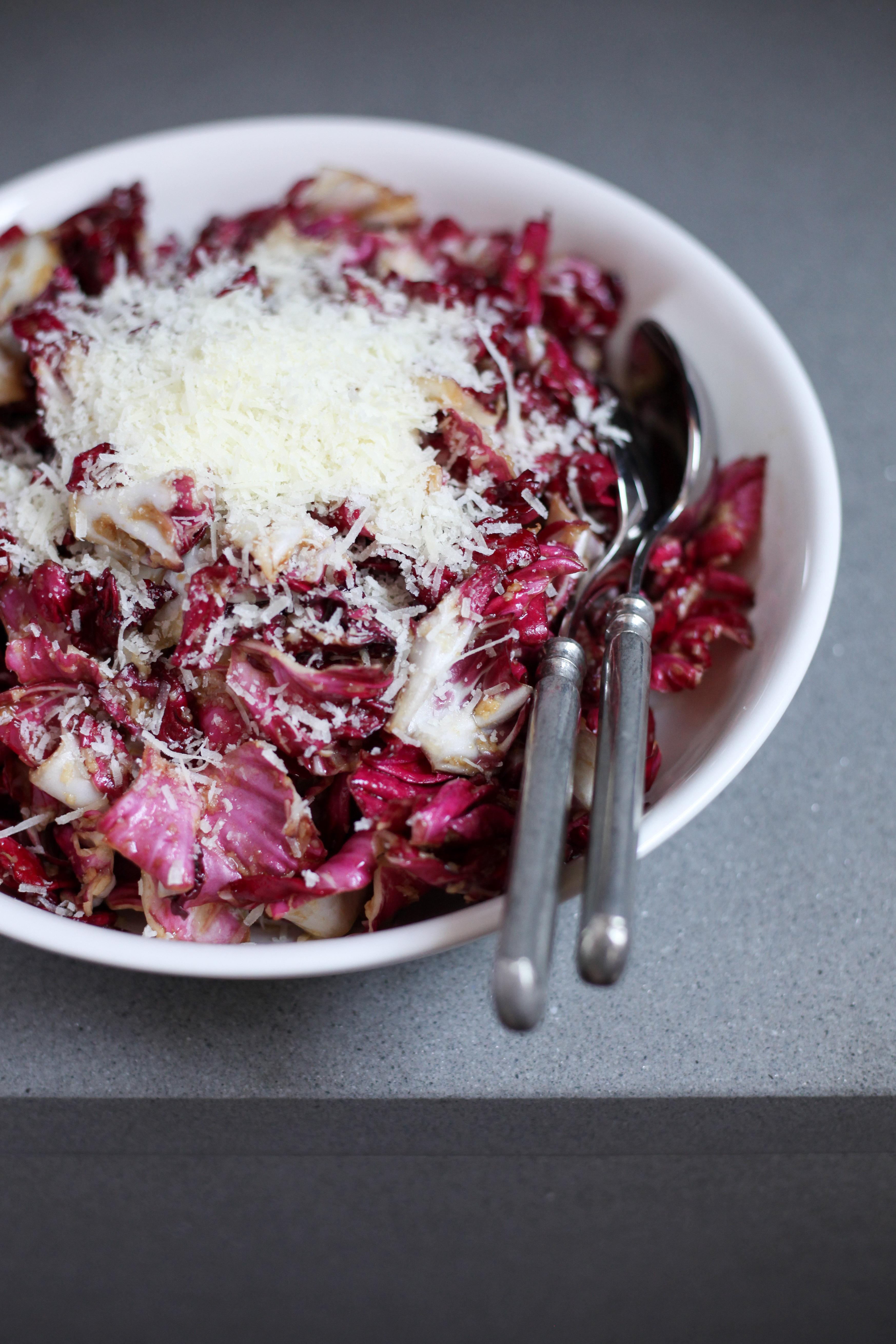 Radicchio Salad With Manchego | amodestfeast.com | @amodestfeast