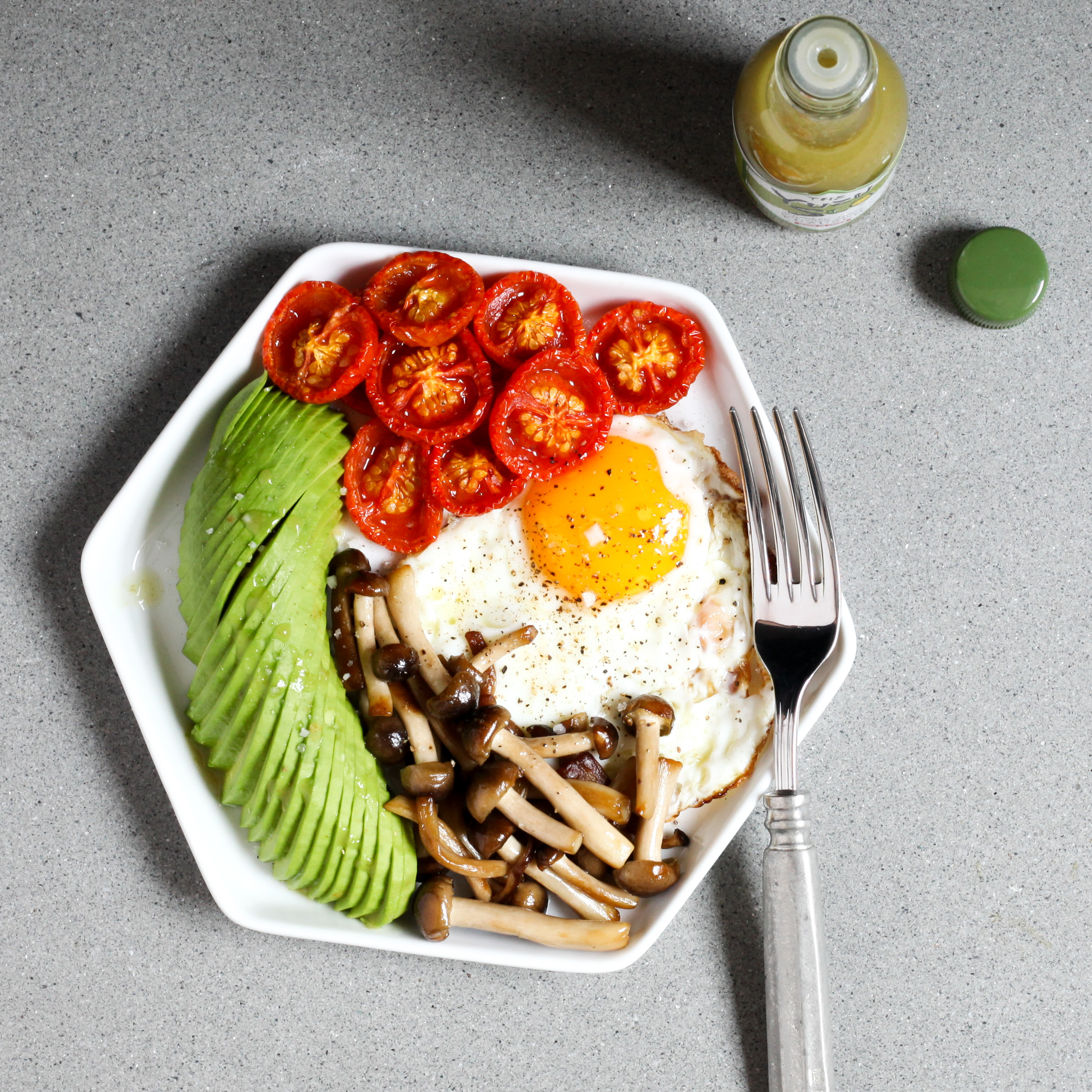 Fried Eggs With Roasted Tomatoes Avocado And Mushrooms Amodestfeast