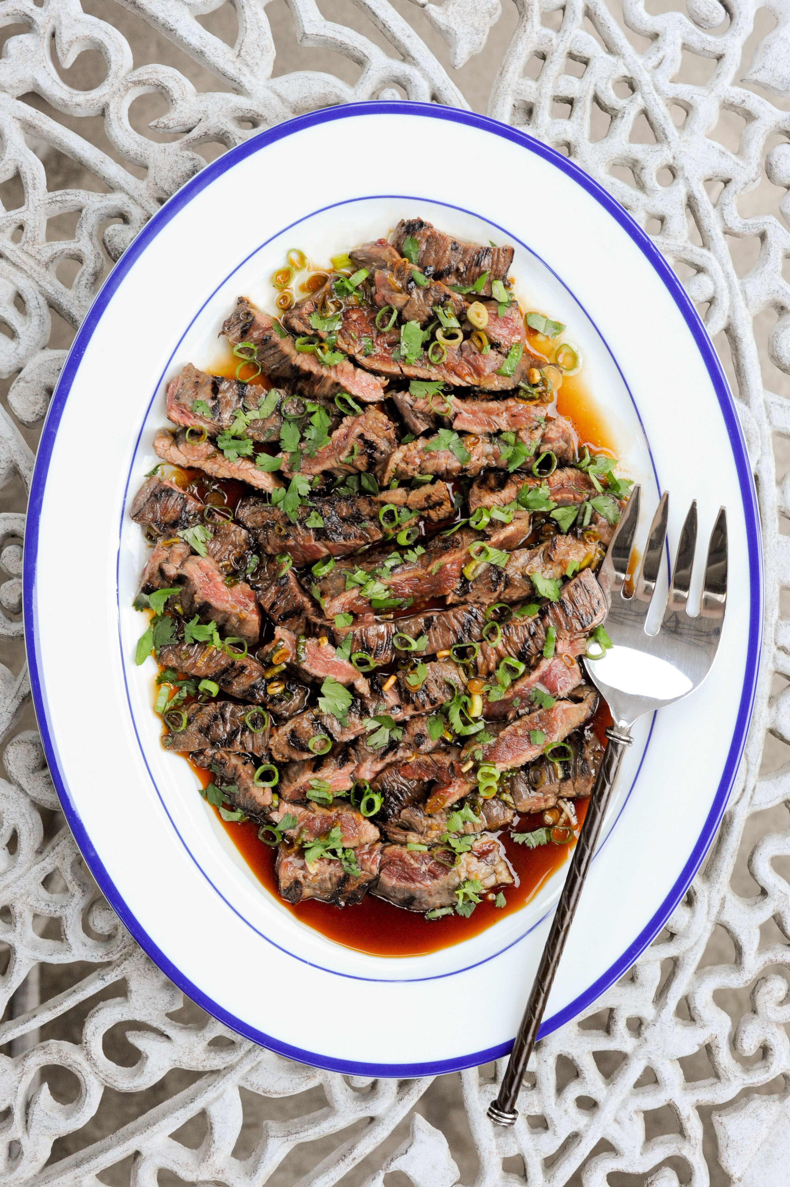 Grilled Skirt Steak With Soy-Garlic Marinade | amodestfeast.com | @amodestfeast