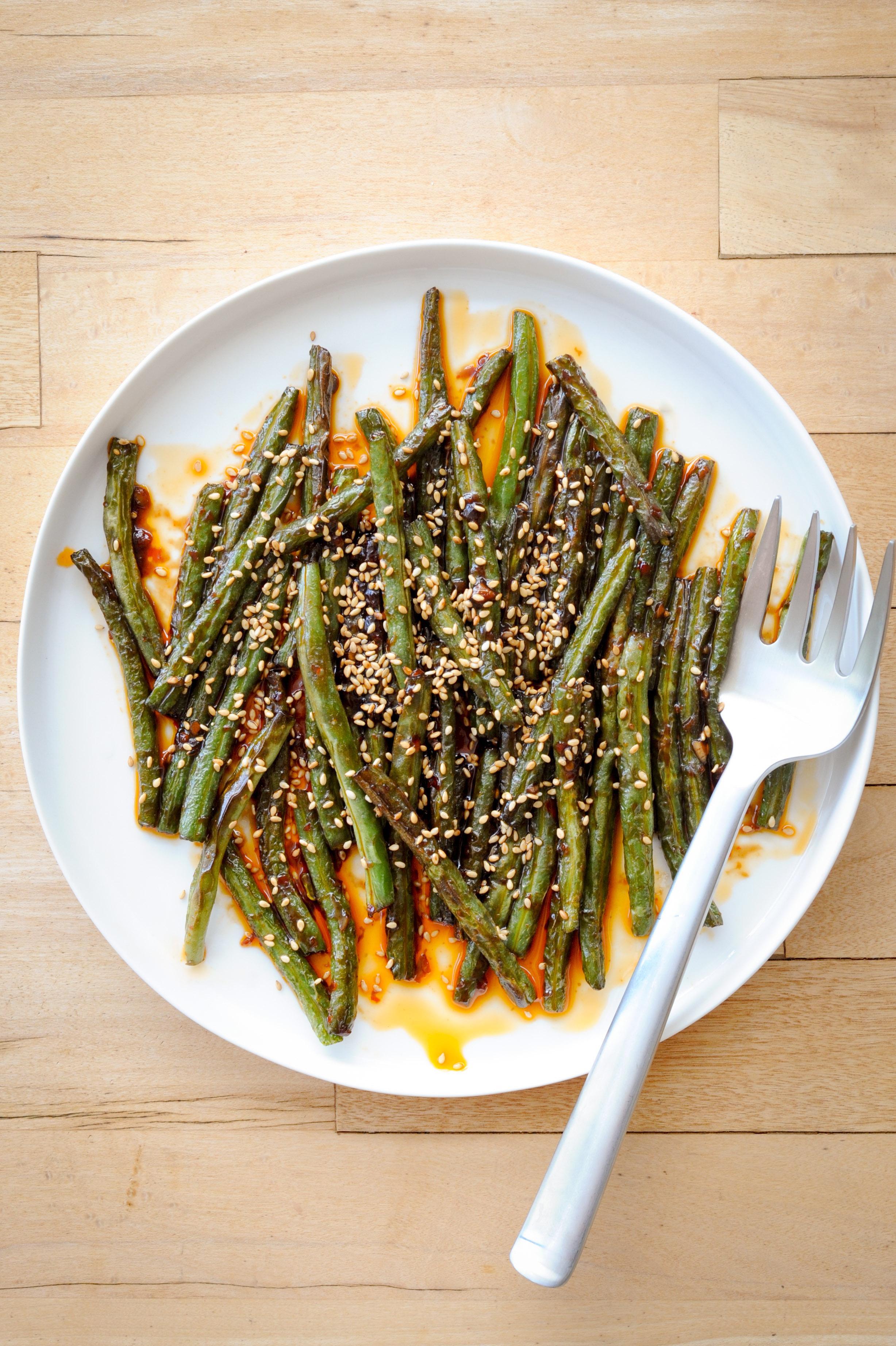 Szechuan-Style Green Beans | amodestfeast.com | @amodestfeast