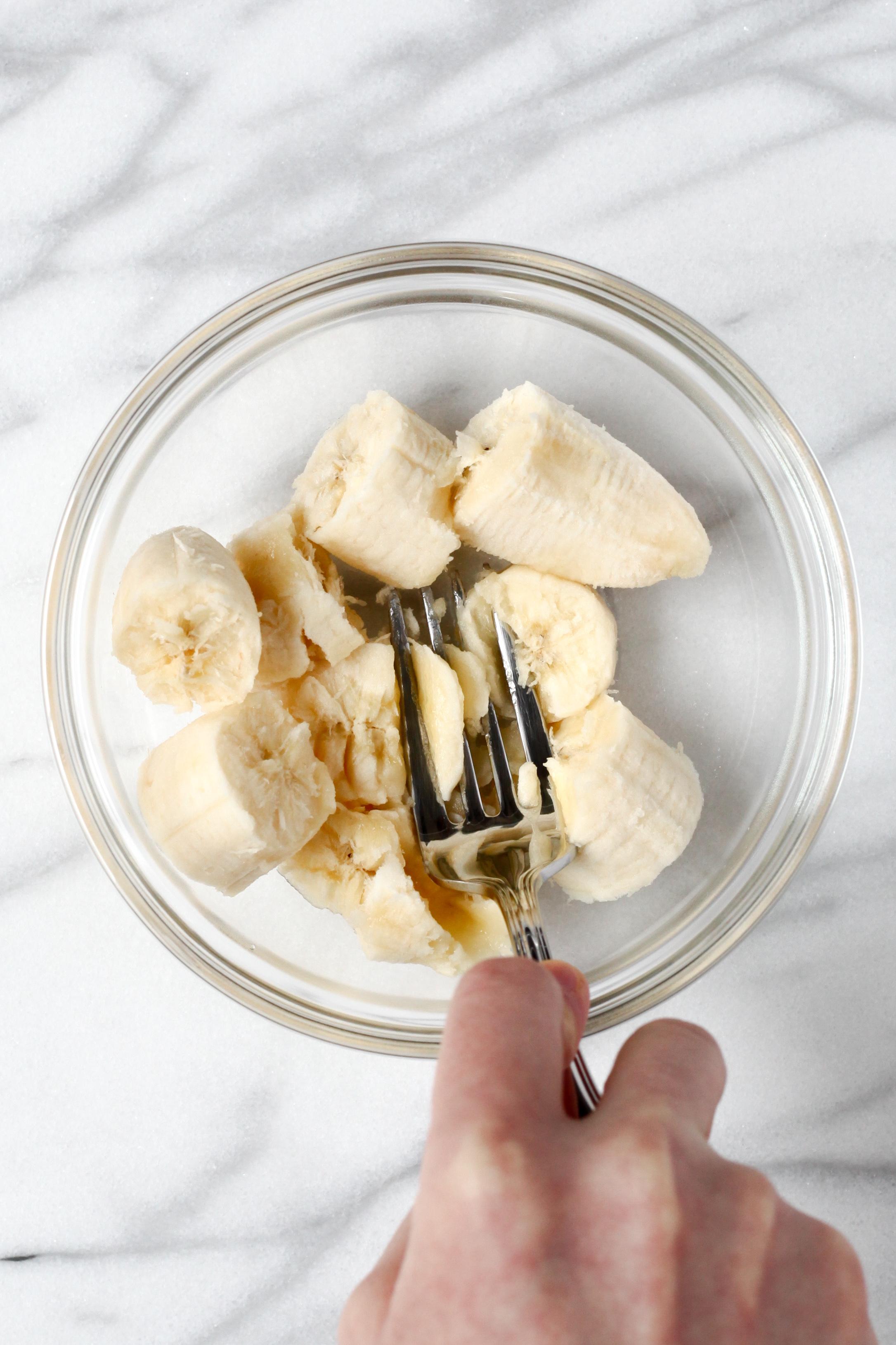 Mashing banana