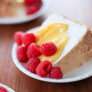 Angel Food Cake With Lemon and Berries | amodestfeast.com | @amodestfeast
