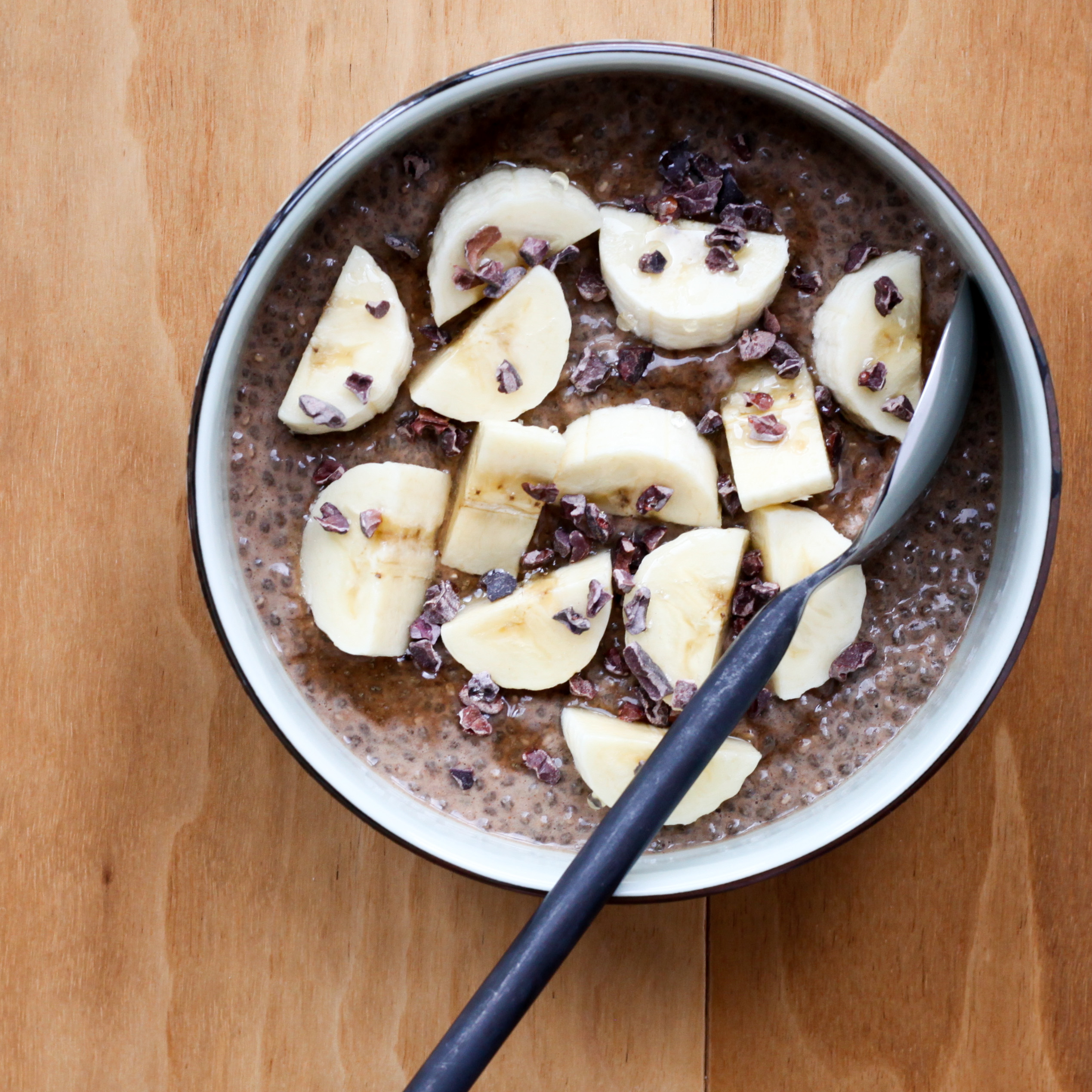 Chocolate Chia Pudding With Cacao Nibs | amodestfeast.com | @amodestfeast