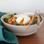 Cauliflower Fried Rice With Kale and Kimchi   amodestfeast.com   @amodestfeast