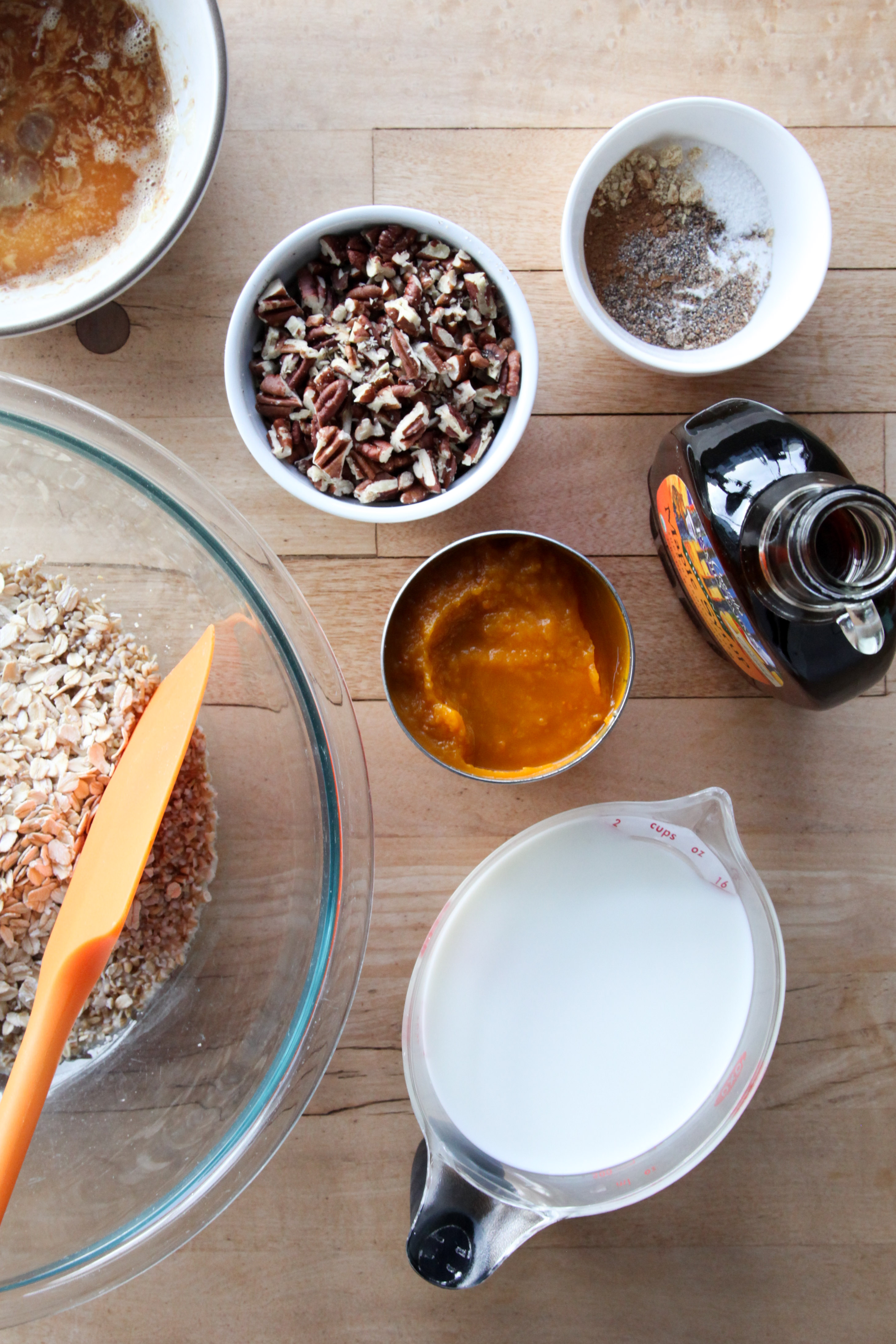 Pumpkin chai baked oatmeal ingredients