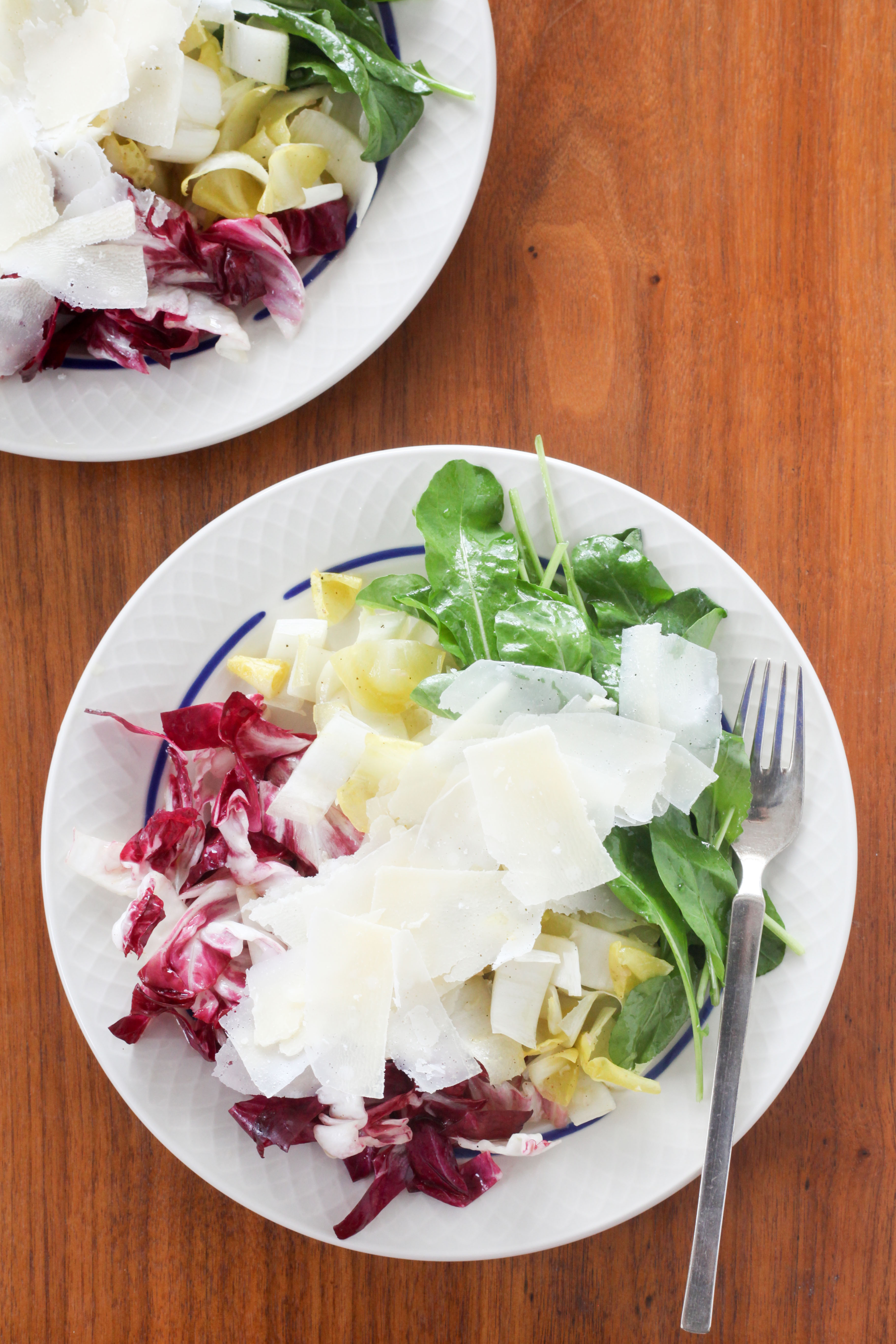 Tricolore Salad (Radicchio, Endive, and Arugula) | amodestfeast.com | @amodestfeast