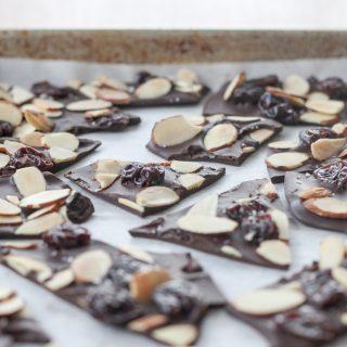 Cherry-Almond Chocolate Bark | amodestfeast.com | @amodestfeast