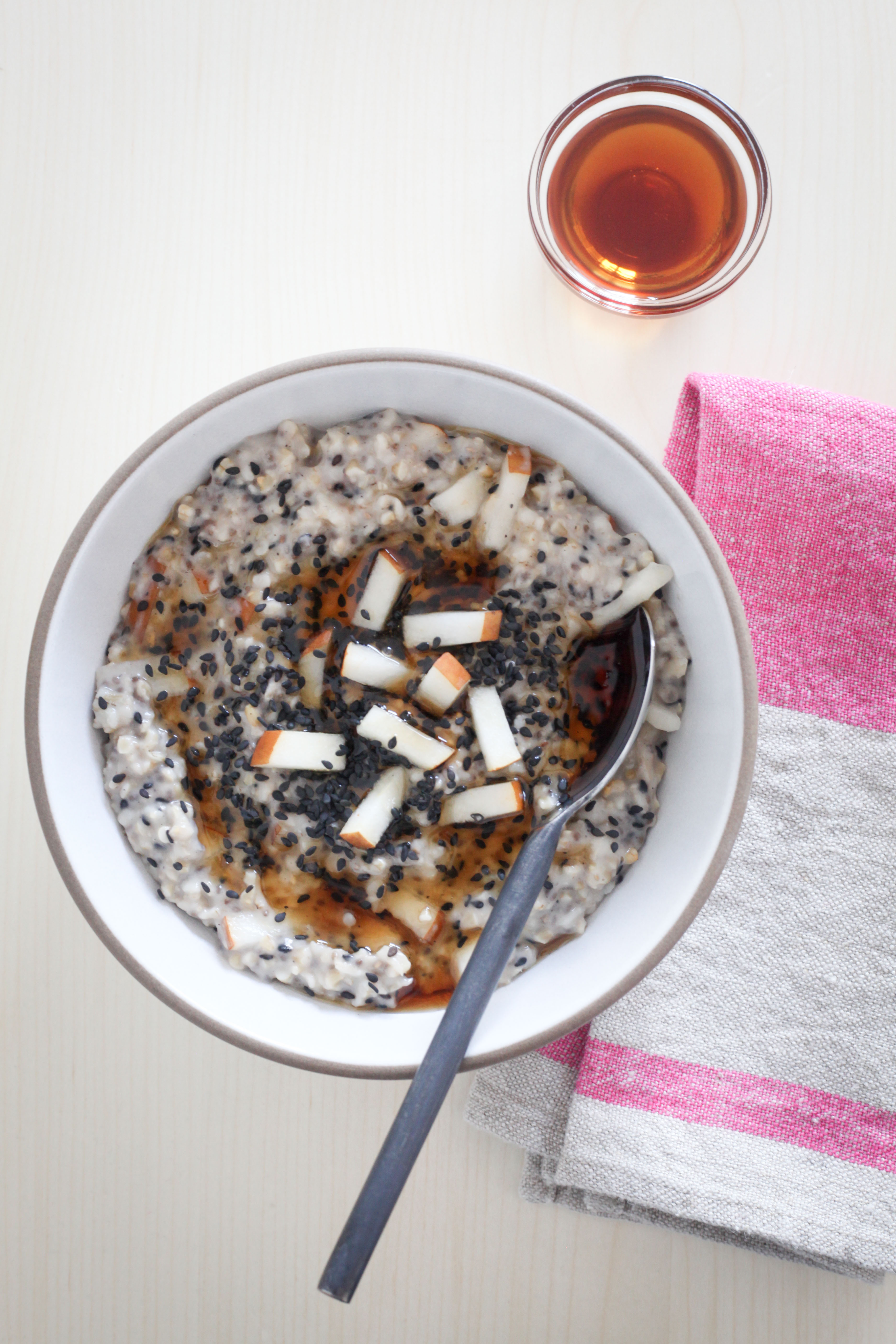 Pear-Ginger Oatmeal With Chia Seeds | amodestfeast.com | @amodestfeast