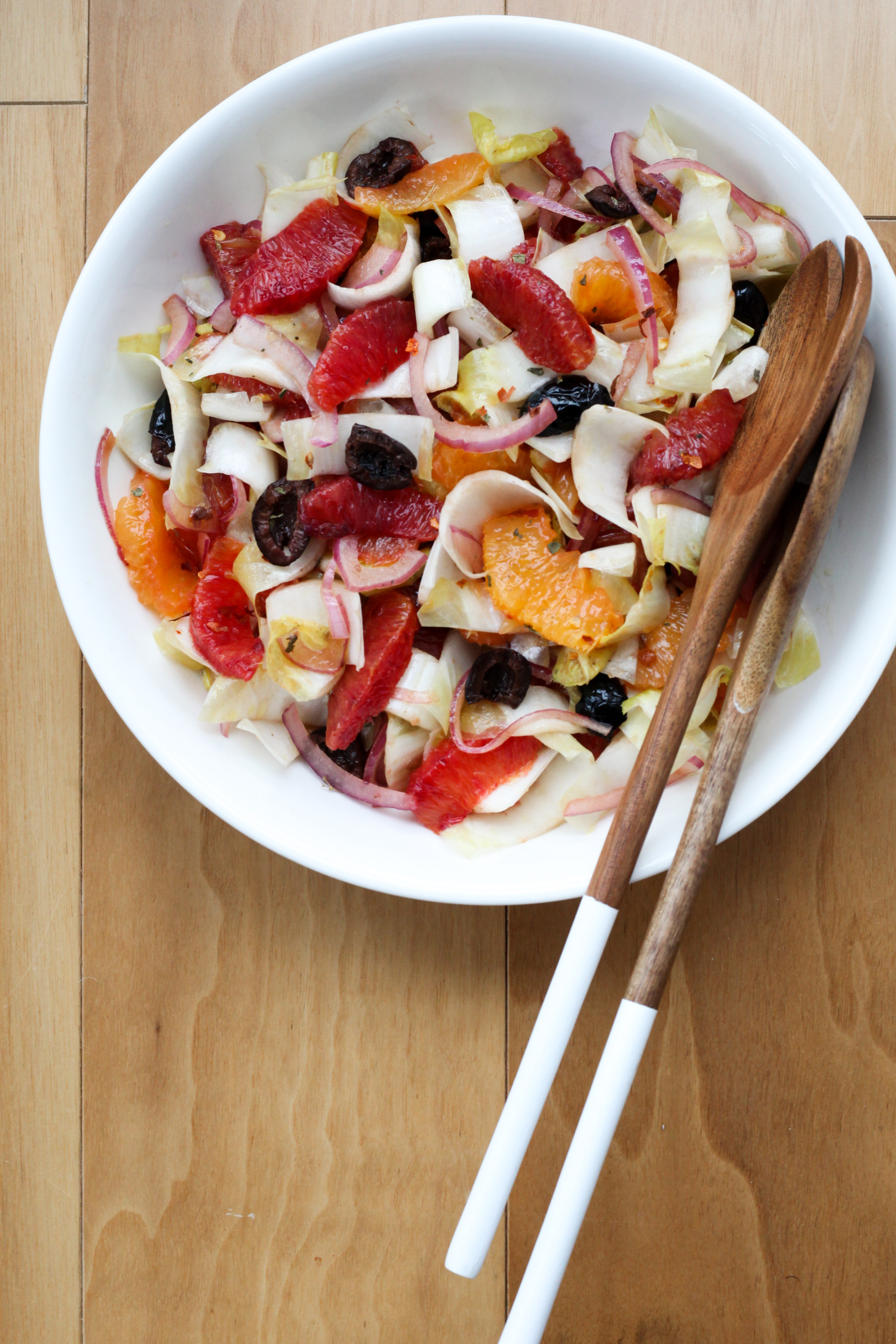 Sicilian Blood Orange, Red Onion, and Olive Salad | amodestfeast.com | @amodestfeast
