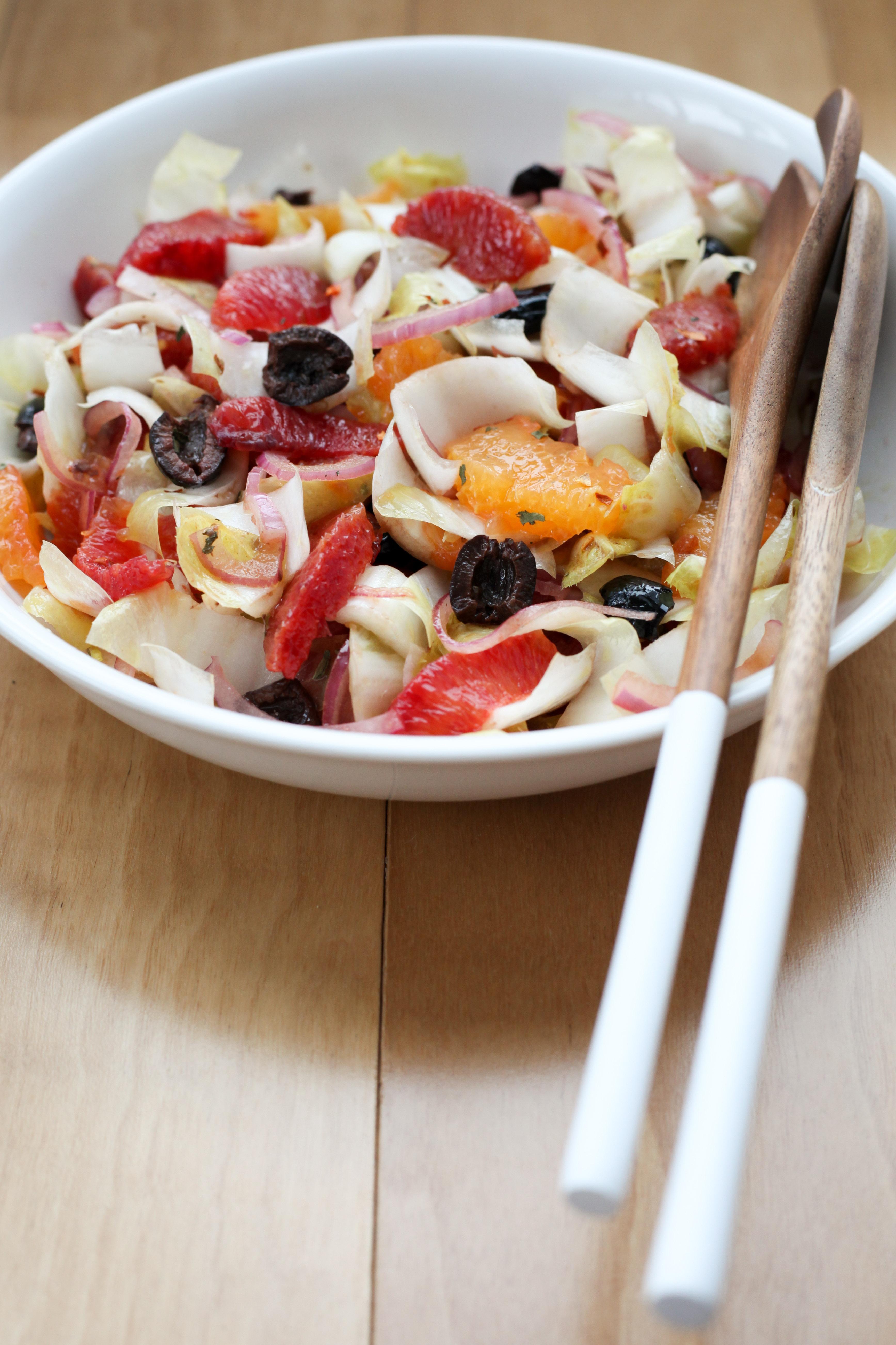 Sicilian Blood Orange, Red Onion, and Olive Salad | amodestf..