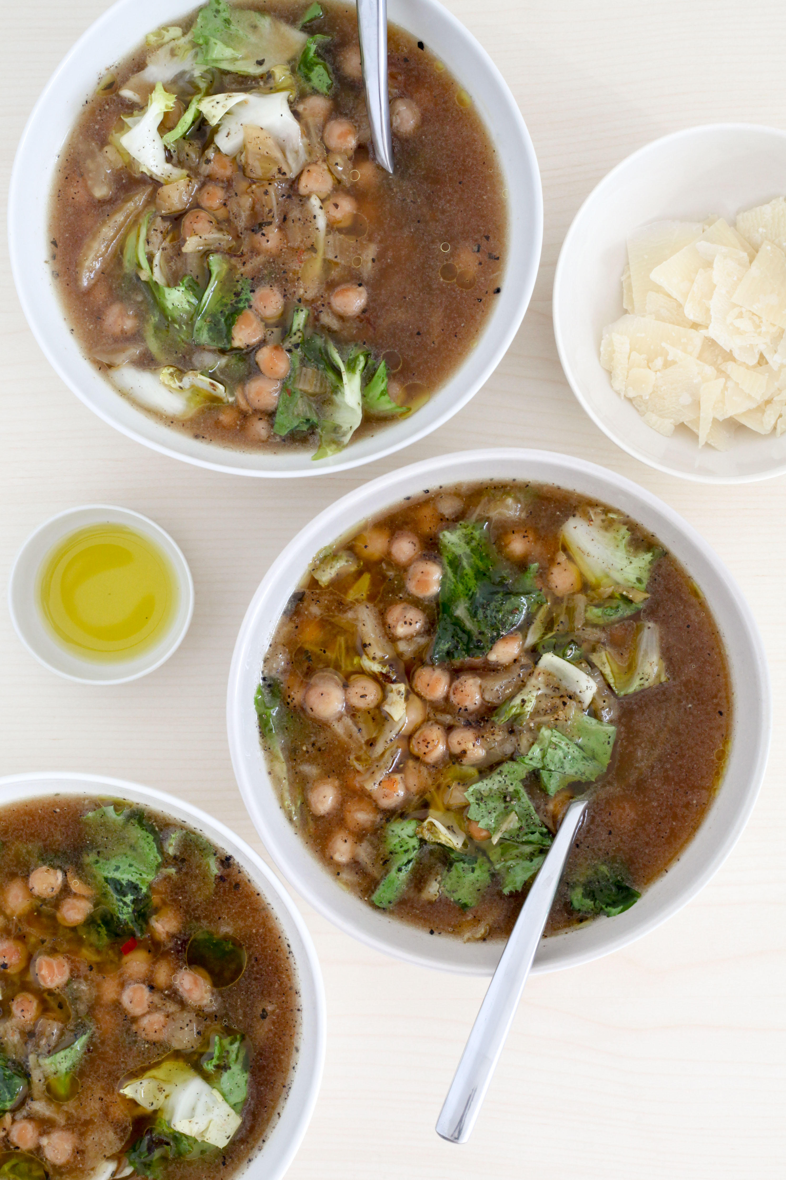 Slow-Cooker Sicilian Chickpea and Escarole Soup | amodestfeast.com | @amodestfeast