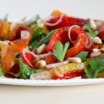 Marinated Bell Peppers With Pine Nuts and Herbs | amodestfeast.com | @amodestfeast