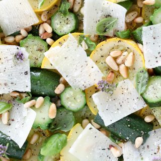 Summer Squash With Pine Nuts, Parmesan, and Basil (vegetarian, low-carb) | A Modest Feast | @amodestfeast