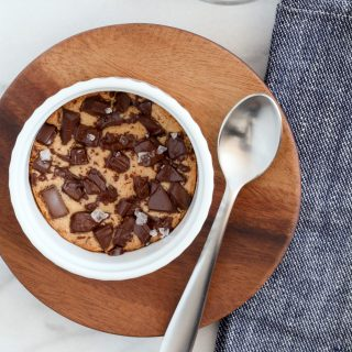 Individual Grain-Free Chocolate Chunk Cookie | A Modest Feast | @amodestfeast