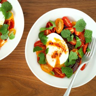 Turkish Eggs With Yogurt and Tomatoes (vegetarian, gluten-free) | A Modest Feast | @amodestfeast