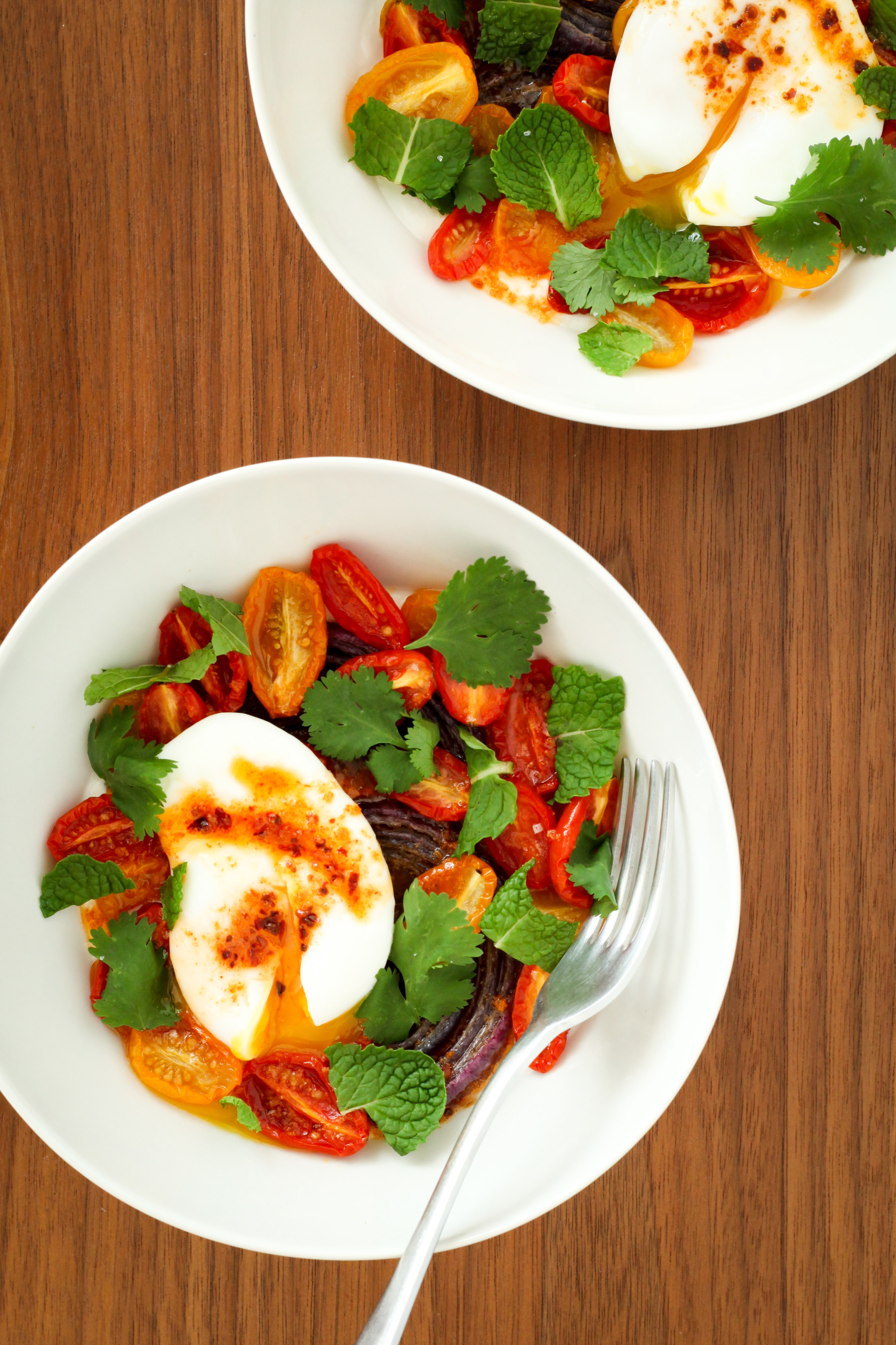 Turkish Eggs With Garlic Yogurt and Tomatoes (vegetarian, gluten-free) | A Modest Feast | @amodestfeast