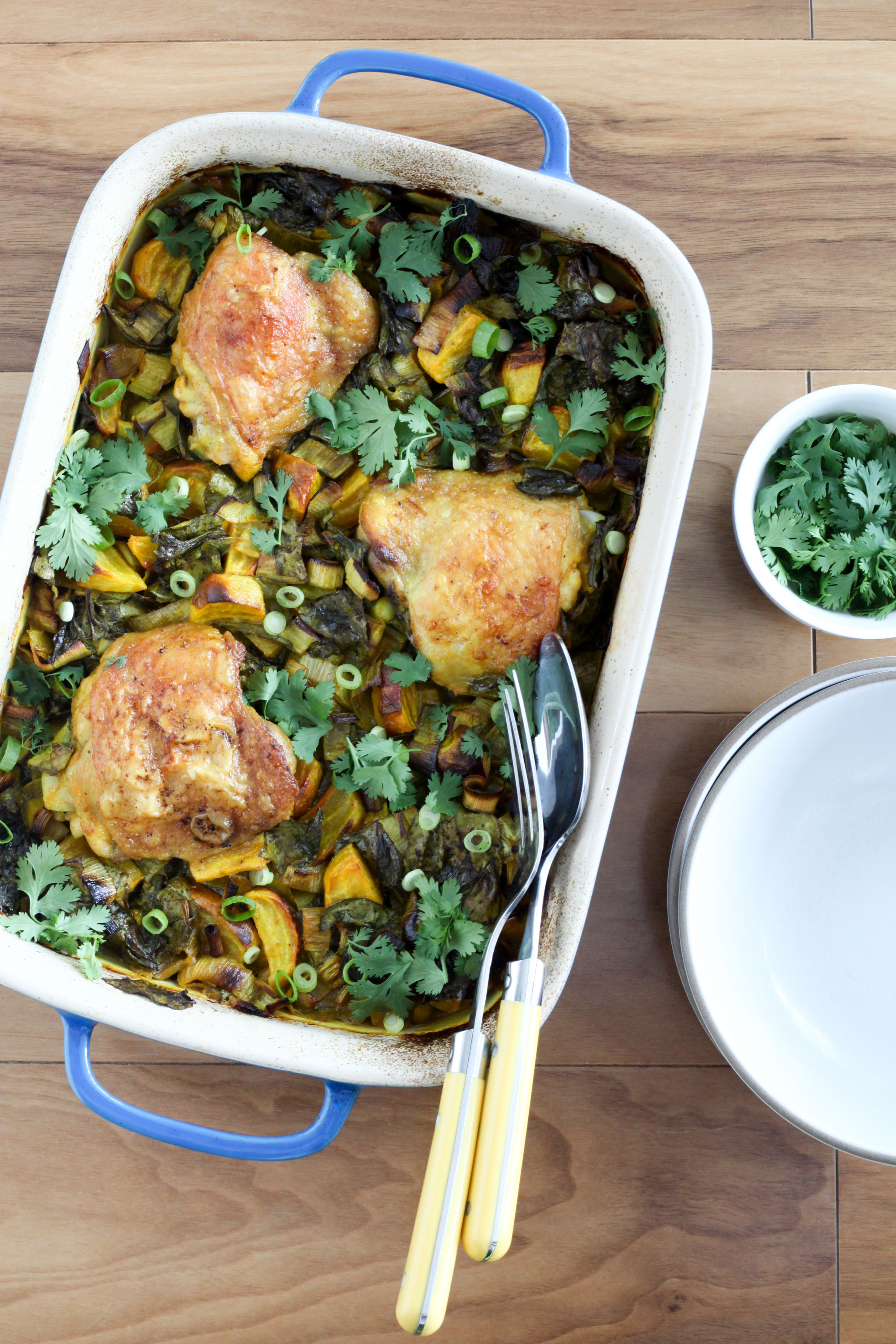 Turmeric Braised Chicken Thighs With Golden Beets and Leeks | A Modest Feast | @amodestfeast