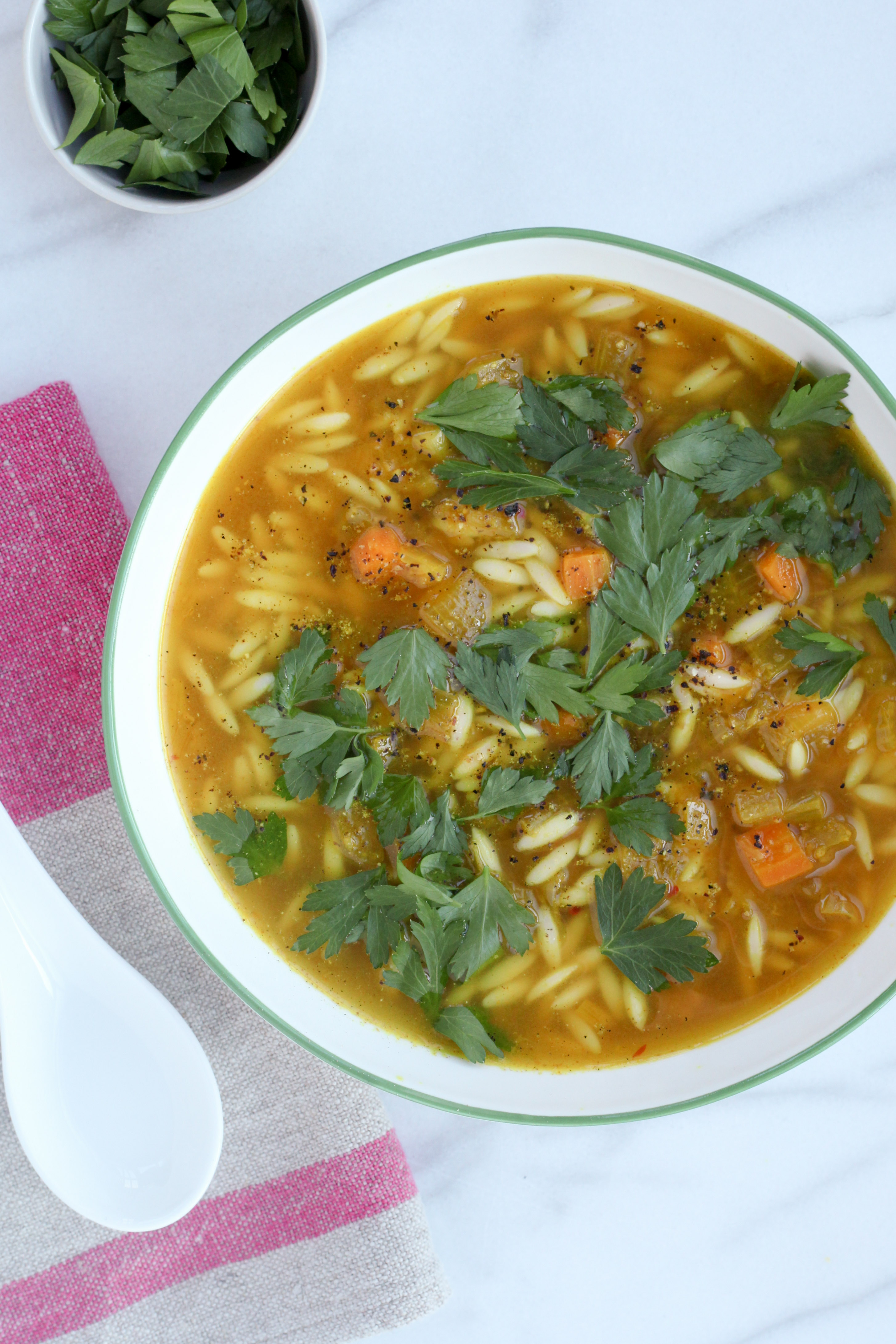 Deep Immune Soup With Turmeric-Ginger Broth (vegan) | A Modest Feast | @amodestfeast