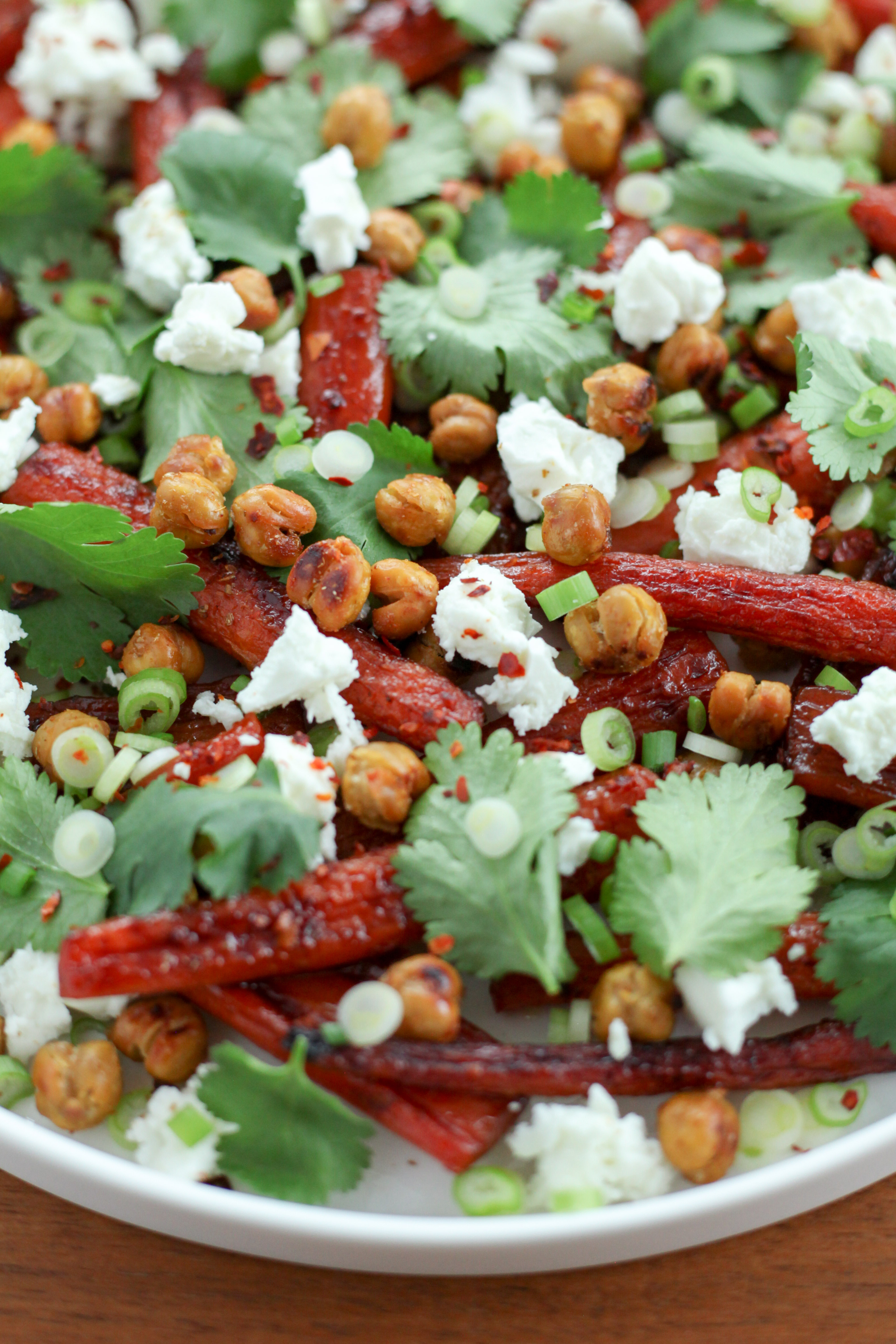 Pomegranate-Molasses-Glazed Carrots With Crispy Chickpeas and Feta | A Modest Feast | @amodestfeast